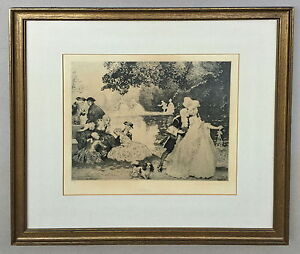 Norman Lindsay Gossip Limited Edition Facsimile Etching 311/550