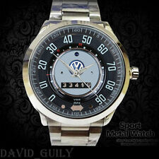 VW Classic Volkswagen Beetle Speedometer Car Logo Stainless Sport Metal Watch*&*