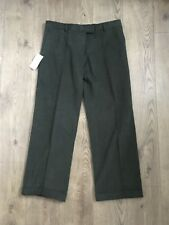 Magee Trousers Size 18 Green Culdaff  W38 L33 Cotton Roll Turn Ups