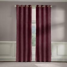 Veratex 50x84 2-pack Cotton Velveteen Grommet Window Panel Curtains Berry 604898
