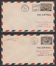 CANADA #C3 and #C4 on 1932 Air Mail covers