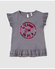 T-shirts et débardeurs gris pour fille de 2 à 16 ans en 100% coton, 12 ans