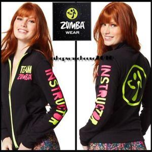 ZUMBA Team Instructor Zip Up Jacket  ~ Large, X-Large  - Rare