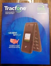 New Tracfone Alcatel My Flip MyFlip A405 Prepaid Basic Cell Phone