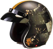 VIPER RS-05  CHEQUER OPEN FACE SCOOTER MOTORBIKE MOTORCYCLE MOD RETRO HELMET