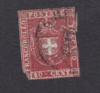 Toscana 1860 40 c. carminio annullato