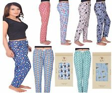 Womens Pyjama Bottoms Nightwear Cotton Printed Lounge Pants PJ Pants S-XXL GIFT