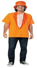 ADULT DUMB AND DUMBER LLOYD ORANGE TUXEDO T-SHIRT & HAT PROM COSTUME KIT GC4974