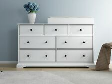 white Cardinia baby change table with 7 chest of drawers w/change pad