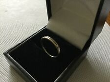 18ct white gold and diamond ring 750 size J fully hallmarked