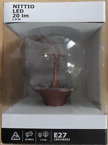NITTIO LED BULB E27 (COPPER, 20LM, 1.8W, IKEA) *BRAND NEW IN THE BOX*