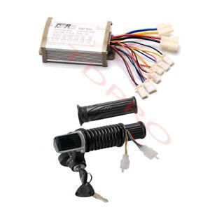 36V 800W Brush Electric Motor Speed Controller + LCD Throttle ATV E Bike Razor