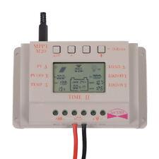 20A LCD MPPT Solar Panel Battery Regulator Charge Controller 12V/24V