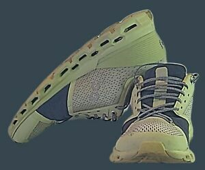 On Cloud Mens Cloudstratus Green Helion Running Shoes Size 9m Swiss (Pre-owned)