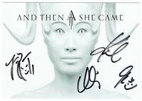 AND THEN SHE CAME - original signierte Autogrammkarte - hand signed