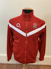 Nike England O2 Rugby Men's Full Zip Jacket Size Small Red Roses Rose