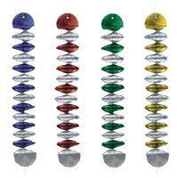 60 Rotor-Spiralen Ø 7,5 cm 60 cm farbig sortiert Geburtstag Party Deko
