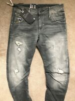 "G-STAR RAW MEN'S FORCE GREY ""ARC 3D SLIM"" FIT JEANS - 28"" x 32"" - NEW & TAGS"