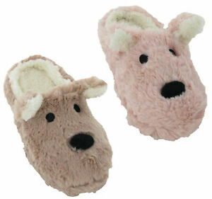 Animal Novelty Mule Slippers Comfy Warm Lovely Cosy Cute Dog Slip On Ladies