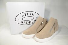 Steve Madden Caliber Wedge Boot, Taupe Suede, Womens 8.5 M