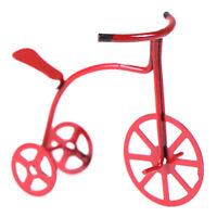 1:12 Cute Dollhouse Miniature Red Bicycle Decorations T FE
