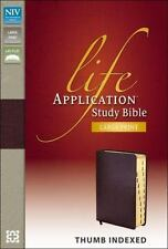 Niv Life Application Study Bible, Large Print Indexed: By Zondervan