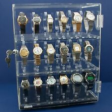 Rotating Revolving Acrylic Watch Display Stand Holds 36 Watches
