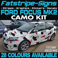 Ford Focus MK2 Gráficos Pegatinas Calcomanías Sombrero Camo camuflaje de techo ZETEC ST RS
