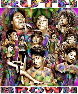 RUTH BROWN TRIBUTE T-SHIRT OR PRINT BY ED SEEMAN