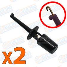 2x Puntas de prueba redonda con gancho NEGRO clip test hook 1,7