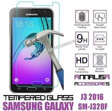 PELLICOLA IN VETRO TEMPERATO SAMSUNG GALAXY J3 2016 J310 SM-J320F TEMPERED GLASS
