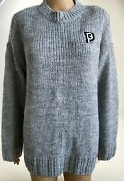 Victoria's Secret PINK Long Sleeve Knit Crew Neck Pullover Sweater  Gray  S  NWT