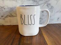 RAE DUNN Bliss Mug Ivory Blue Tea Cup Coffee New