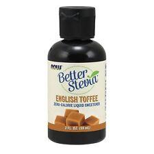 NOW Foods BetterStevia Liquid, English Toffee, 2 oz