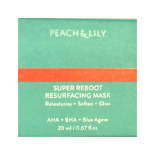 Peach & Lily SUPER REBOOT RESURFACING MASK0.67oz / 20 mL TRAVEL SIZE New in Box