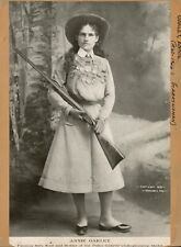 """8"""" x 10"""" Annie Oakley - famous rifle shot and holder of the Police Gazette"""