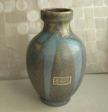 schöne Majolika Vase / Tischvase 17,5 cm hoch Majolikamanufaktur Karlsruhe