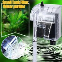 Mini Aquarium 3W Wasserfall hängen auf externe Sauerstoffpumpe Wasserfilter