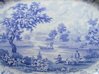 "ROGERS BLUE & WHITE VIEWS SERIES - YORK - 18¾"" PLATTER (Ref4913)"