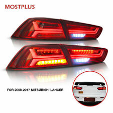 LED Tail lights Red Clear For 2008-UP Mitsubishi Lancer Evo X Turn Signal Rear