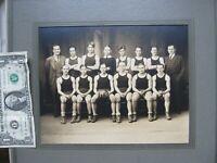 SCARCE Early 1931 Antique TOWN BASKETBALL TEAM PHOTO, Maynard, Mass, GIFT