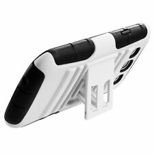 Samsung Galaxy S III 3 HYBRID KICK STAND Rubber Silicone Case Phone Cover White