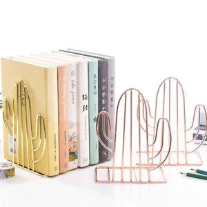 Cactus Shaped Metal Book Support Stand Desk Storage Holder Shelf Office Supplizh