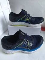 MENS SAUCONY EVERUN OMNI ISO BLUE BLACK WHITE GREEN RUNNING SHOES SIZE 10.5