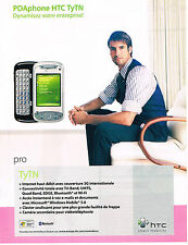 PUBLICITE ADVERTISING 104  2006  HTC  le PDAphone TyTN