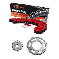 Chain and Sprocket Kit Heavy Duty Red 1990-1997 Honda FourTrax 200 TRX200 / II