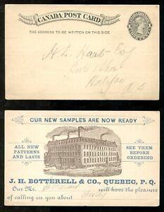 5286 - QUEBEC 1880s J.H. Botterell & Co Shoes ADVERTISING Postcard