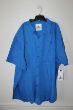 New With Tag Akademiks button down long sleeve blue dress shirt men's 6XL
