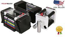 Powerblock Adjustable Dumbbells (PAIR) Personal Trainer Set 5-50lbs Brand New