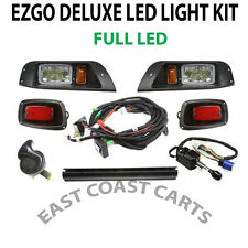 EZGO TXT Golf Cart DELUXE Street Legal FULL LED Light Kit PLUG & GO
